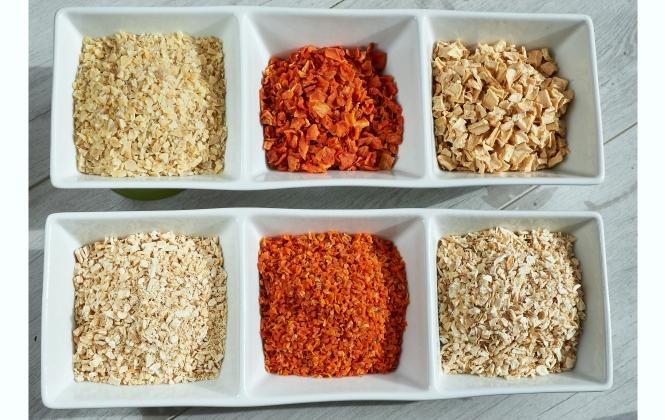 Burgonya, sárgarépa, petrezselyem és paszternák - granulátum és kocka