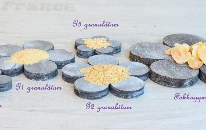 Szárított fokhagymák, por, granulátum és pehely