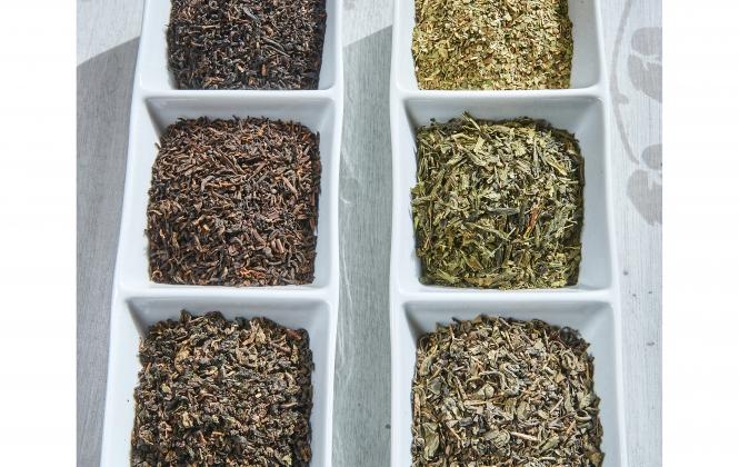 Zöld és fekete teák